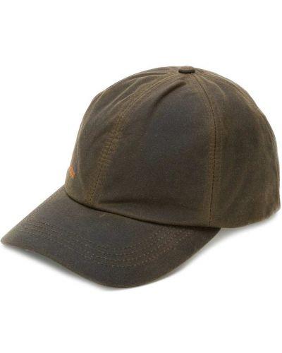 Хлопковая коричневая кепка Barbour