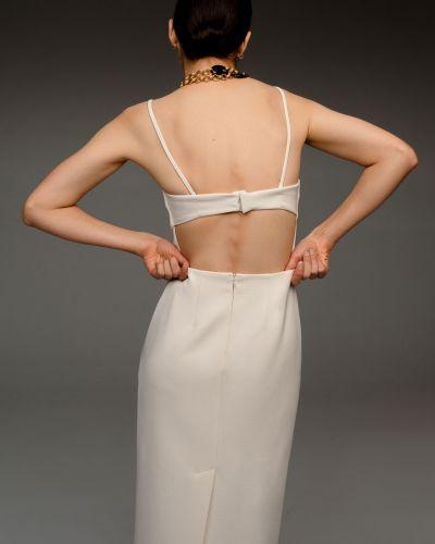 Приталенное прямое коктейльное платье с открытой спиной 12storeez