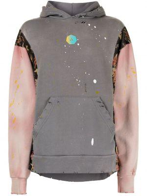 Bluza długa bawełniana z długimi rękawami z printem Alchemist