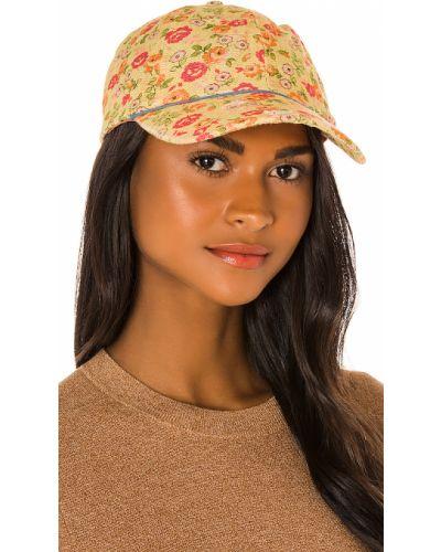 Żółty kapelusz elegancki z jedwabiu Loveshackfancy