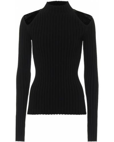Czarny sweter z wiskozy Helmut Lang