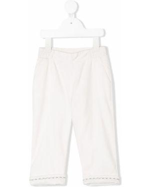 Białe spodnie bawełniane Baby Dior