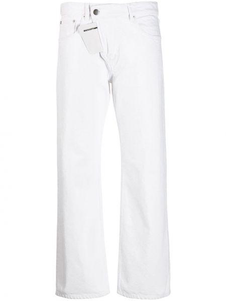 Białe jeansy bawełniane z paskiem Each X Other