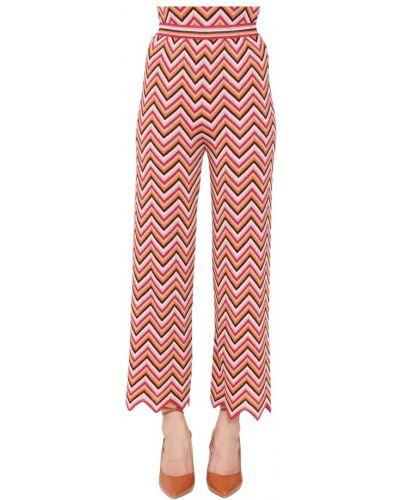 Różowe spodnie Missoni