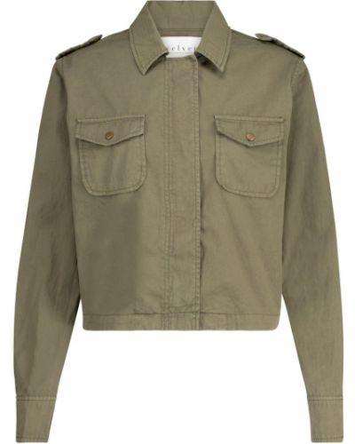 Бархатная ватная зеленая куртка Velvet