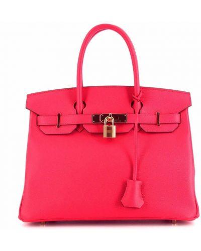 Różowa złota torebka Hermes