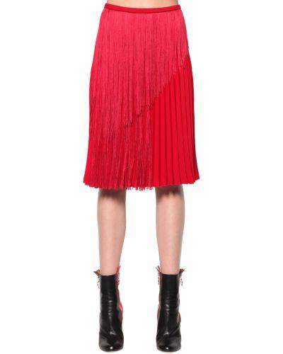 Плиссированная юбка - красная Marco De Vincenzo