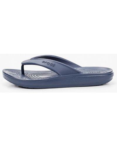 Пляжные синие сланцы Crocs
