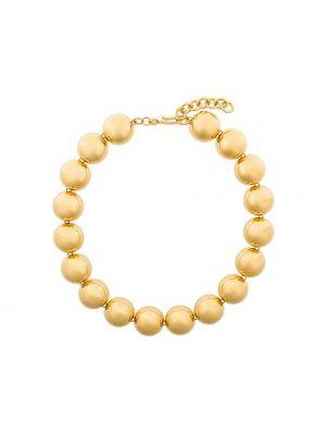 Желтое ожерелье металлическое Monet Pre-owned