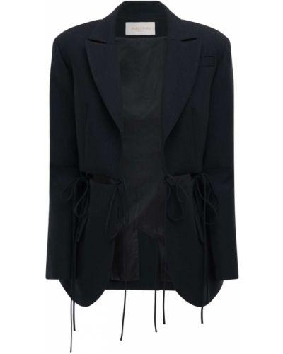 Кружевной черный пиджак с отворотом Matériel