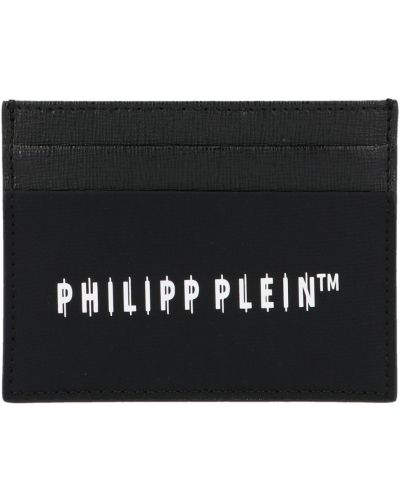 Portfel z printem - czarny Philipp Plein