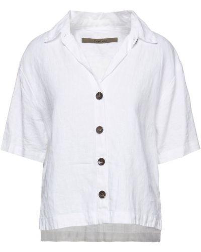 Льняная рубашка - белая Enza Costa