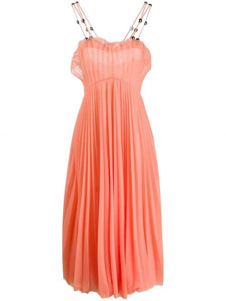 Sukienka midi czerwona różowa Christopher Kane