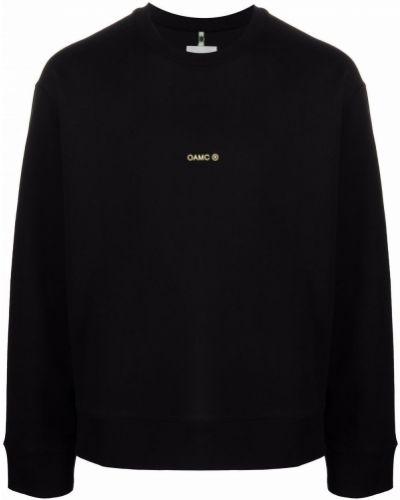 Czarna bluza z printem Oamc
