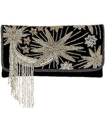 Czarna sprzęgło na łańcuchu elegancka srebrna From St Xavier