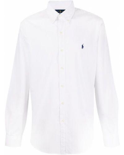 Biała koszula z długimi rękawami Ralph Lauren