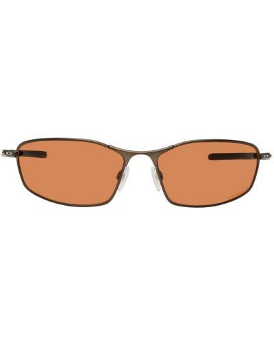 Okulary srebrne - brązowe Oakley