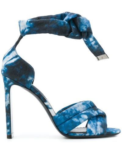 Синие сандалии на шнуровке Nicholas Kirkwood