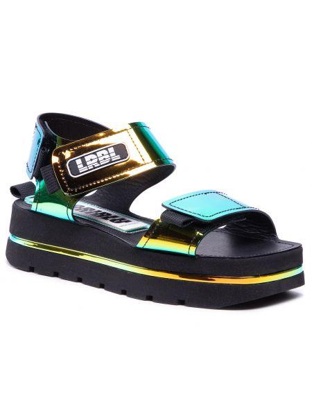 Zielone sandały casual Loriblu