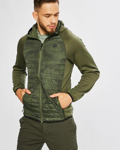 Утепленная куртка с капюшоном укороченная на пуговицах Jack & Jones