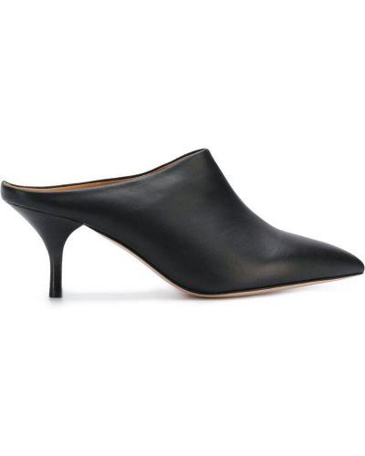 Черные мюли на каблуке Morobé