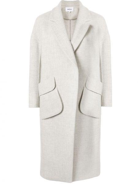Długi płaszcz z kieszeniami wełniany Enfold