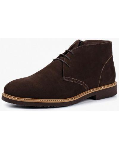 Ботинки из нубука - коричневые Ralf Ringer