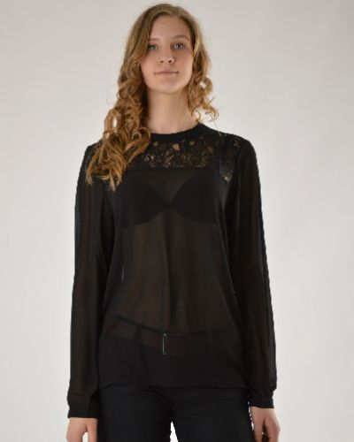 Блузка кружевная с воротником-стойкой Brave Soul