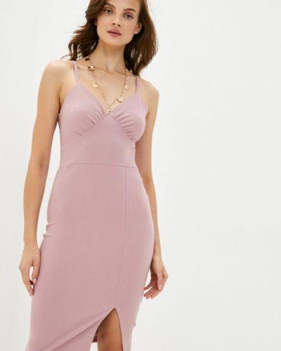 Розовое платье-футляр Trendyol