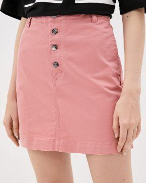 Джинсовая юбка карандаш розовая Calvin Klein Jeans