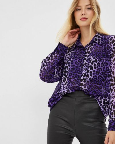 Фиолетовая блузка с длинным рукавом Glamorous