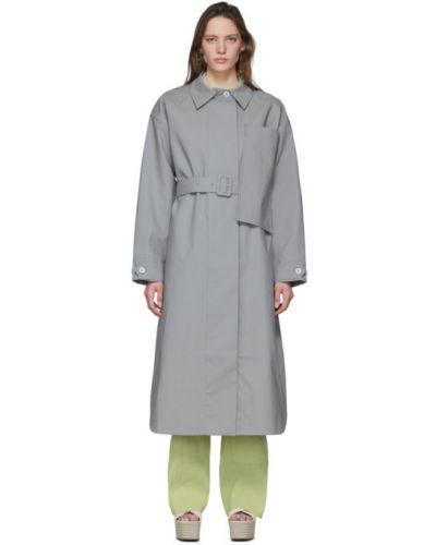 Długi płaszcz z paskiem bawełniany zapinane na guziki Jacquemus