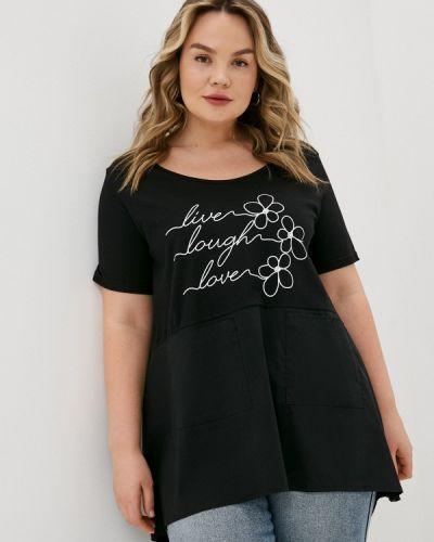Черная футболка с короткими рукавами Sophia