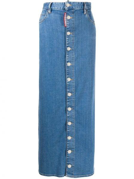 Джинсовая юбка с завышенной талией макси Dsquared2