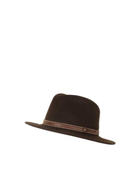 Brązowy kapelusz wełniany Müller Headwear