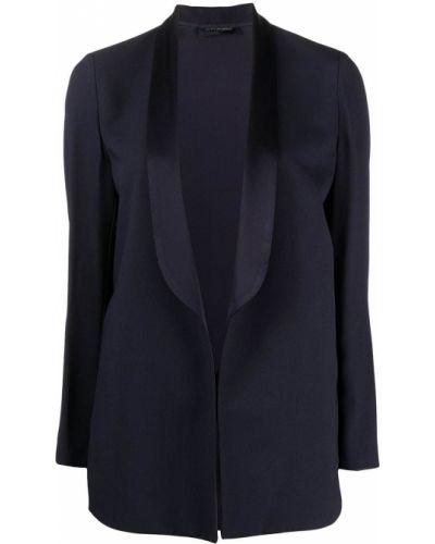 Синий пиджак с лацканами из вискозы Piazza Sempione