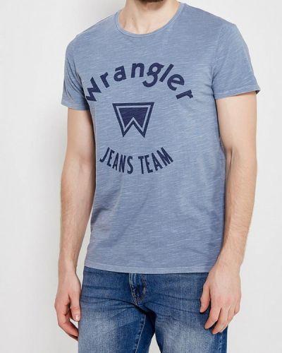 Голубая футболка Wrangler