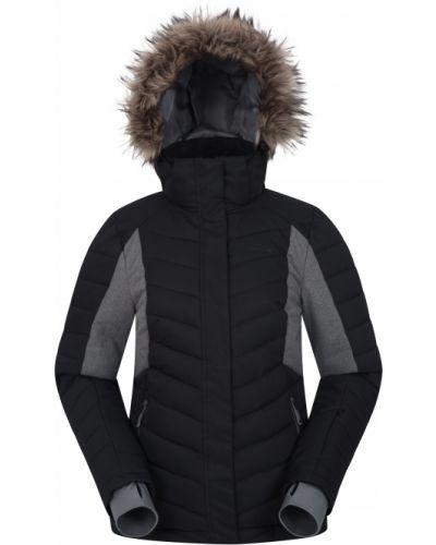Czarna kurtka pikowana klamry Mountain Warehouse