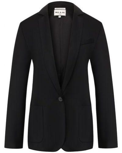 Шерстяной черный пиджак с подкладкой Paul&joe