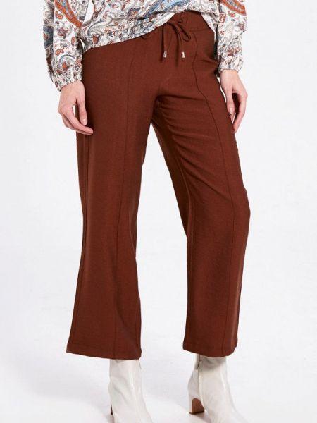 Коричневые расклешенные свободные брюки Lc Waikiki