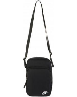 Черная сумка на молнии с карманами Nike