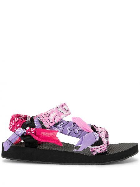 Sandały czarne fioletowy Arizona Love