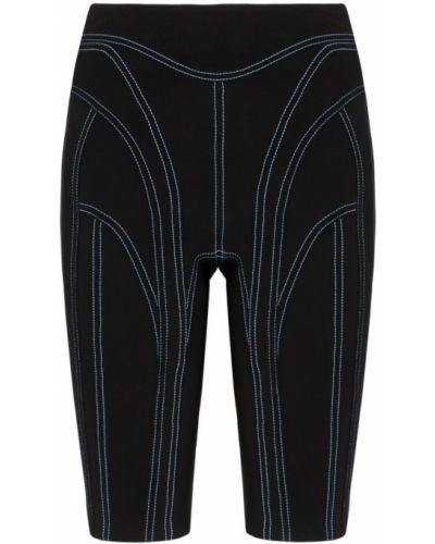 Облегающие черные шорты Mugler