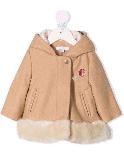 Brązowy klasyczny płaszcz Chloé Kids