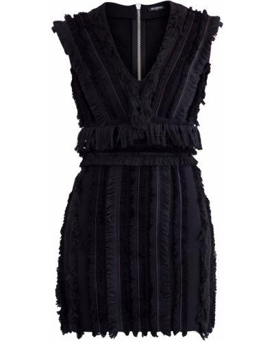 Платье мини с бахромой коктейльное Balmain