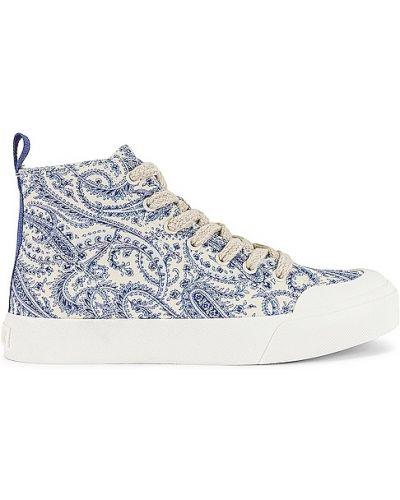 Синие кроссовки на платформе на шнурках Dolce Vita