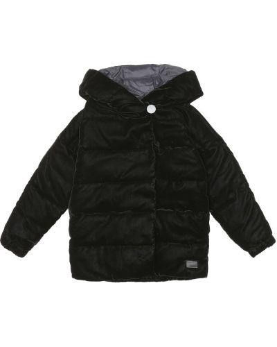Pikowana czarny pikowana płaszcz Emporio Armani Kids