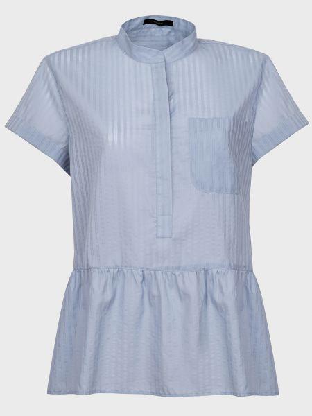 Хлопковая блузка - голубая Windsor