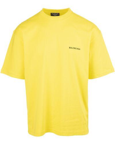 Żółta t-shirt Balenciaga