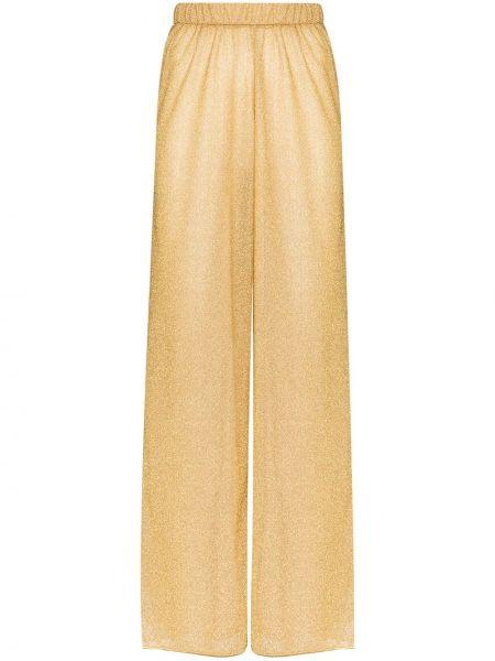 Желтые брюки с поясом свободного кроя Oseree